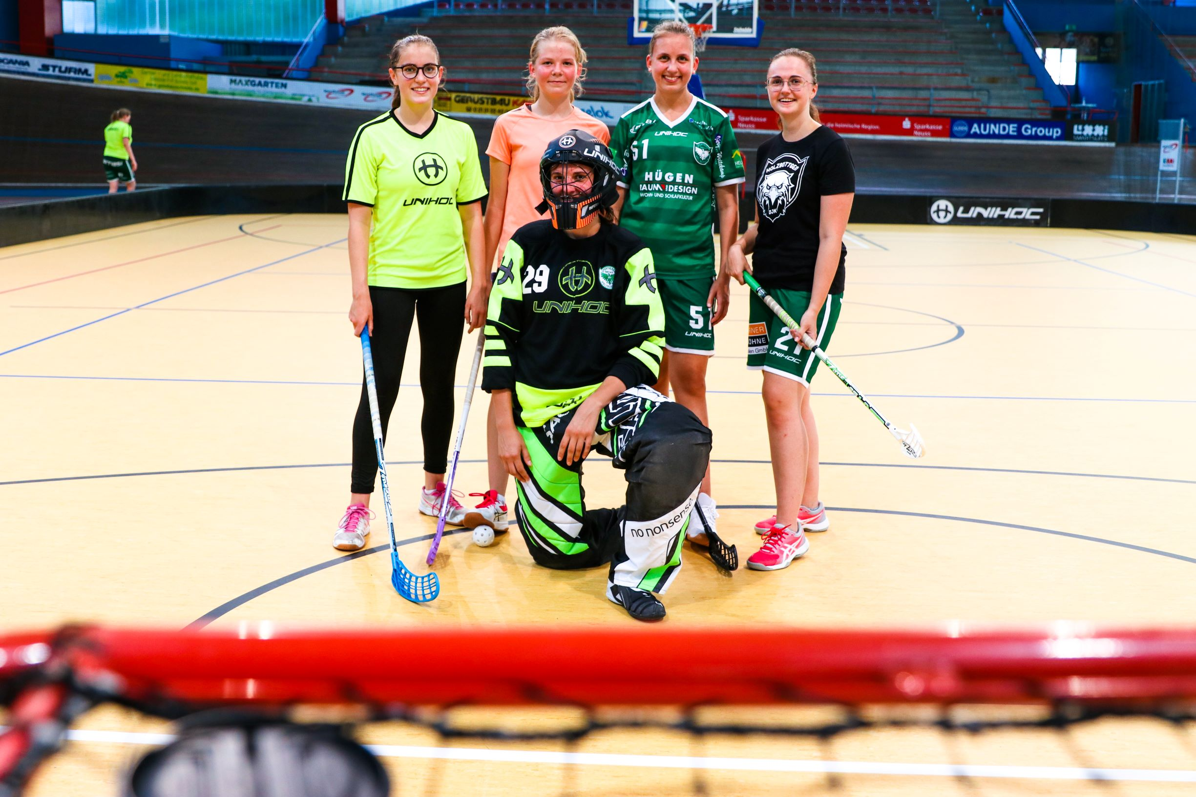 Floorball Damen Training